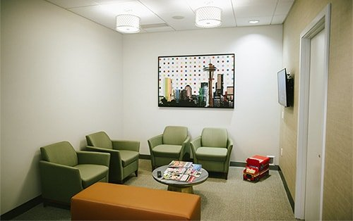 Sammamish Village Family Dentistry waiting area