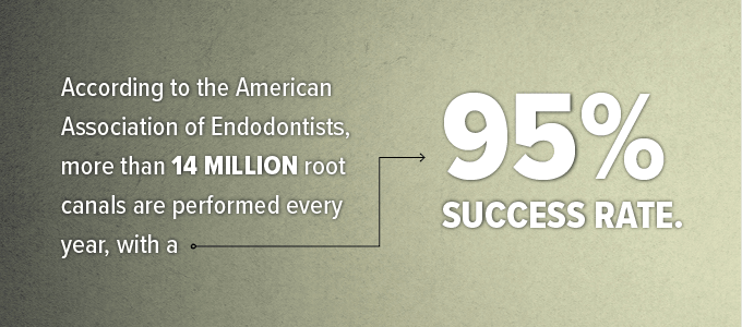 Stat about root canal therapy