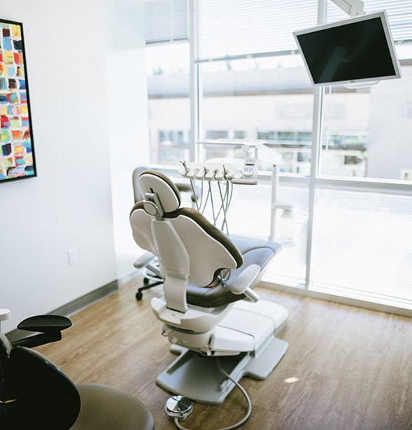 A dental suite at the office of Dr. Madhavan