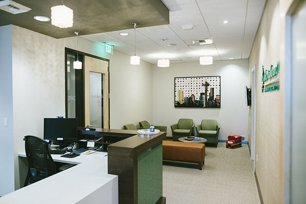 The front office of Dr. Madhavan's practice in Sammamish, WA