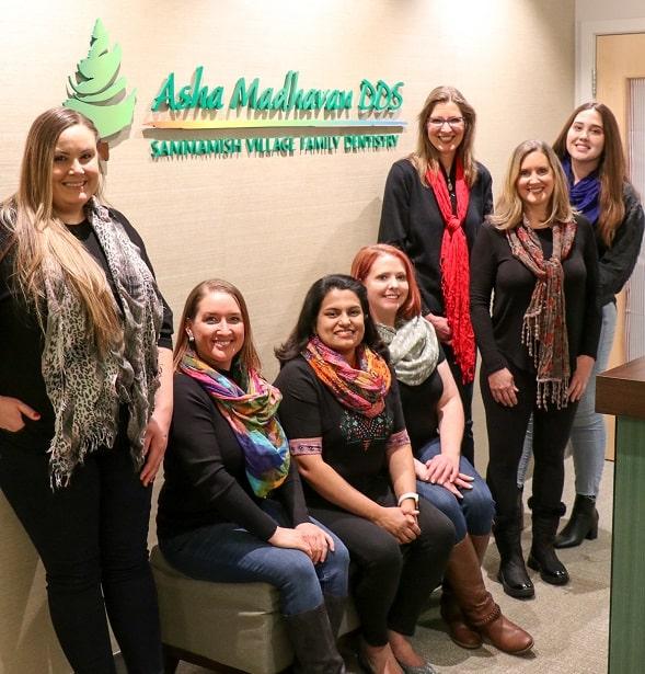 Dr. Madhavan and her dental team
